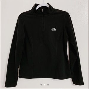 The North Face Black Half Zip Pullover Sweater Med